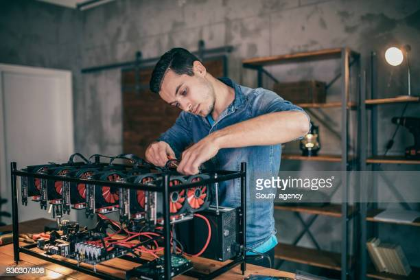 Programmierer die Bergbau-rig