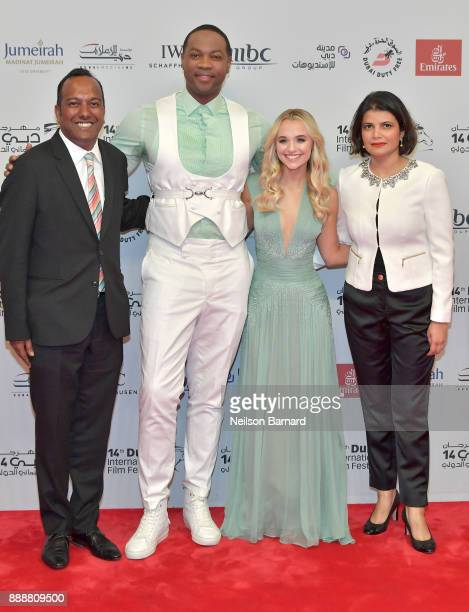 Programmer Nashen Moodley actors Ser Darius Blain Madison Iseman and Managing Director of DIFF Shivani Pandya attend the 'Jumanji Welcome to the...