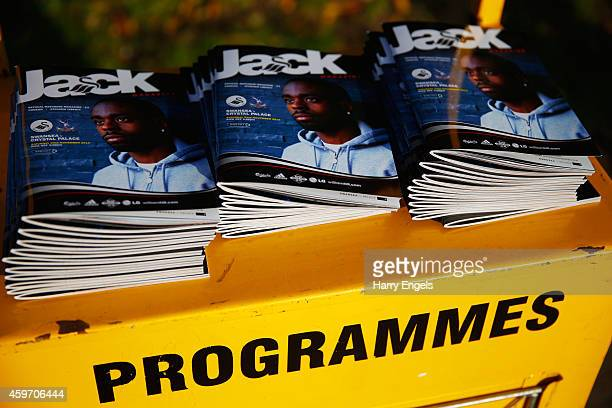 Programmes for sale prior to the Barclays Premier League match between Swansea City and Crystal Palace at Liberty Stadium on November 29 2014 in...
