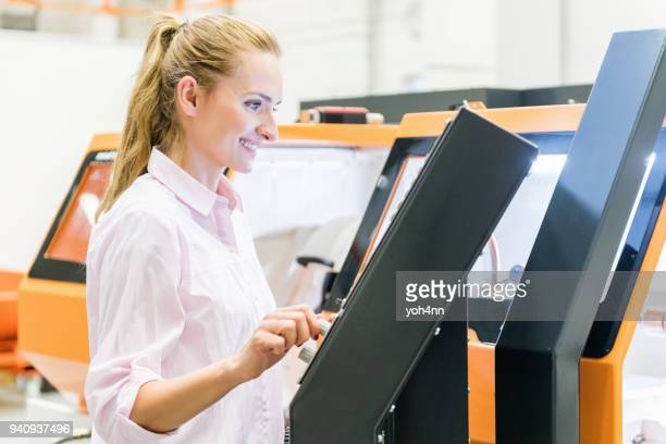 programming a cnc machine - mechatronics stock pictures, royalty-free photos & images