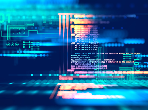 Programming code abstract technology background of software deve 629285904