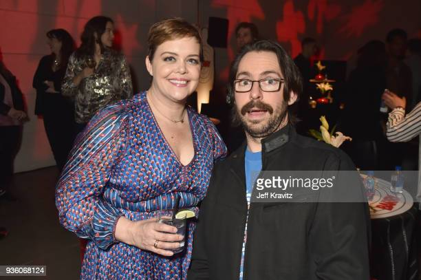 Programming EVP Amy Gravitt and Martin Starr attend the premiere of HBO's 'Barry' at NeueHouse Los Angeles on March 21 2018 in Hollywood California