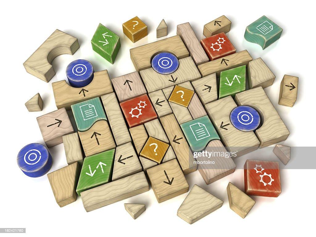 プログラミングフローチャートビルディングブロック : ストックフォト
