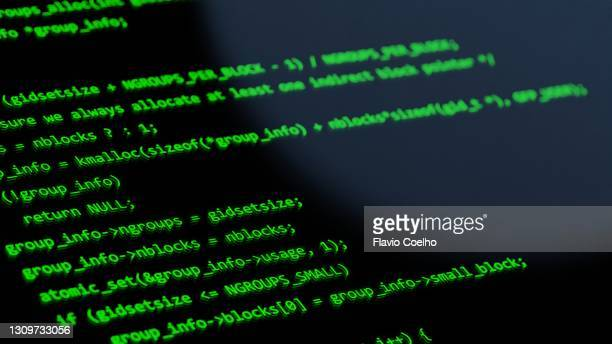 programming language on computer screen display - coding stock pictures, royalty-free photos & images