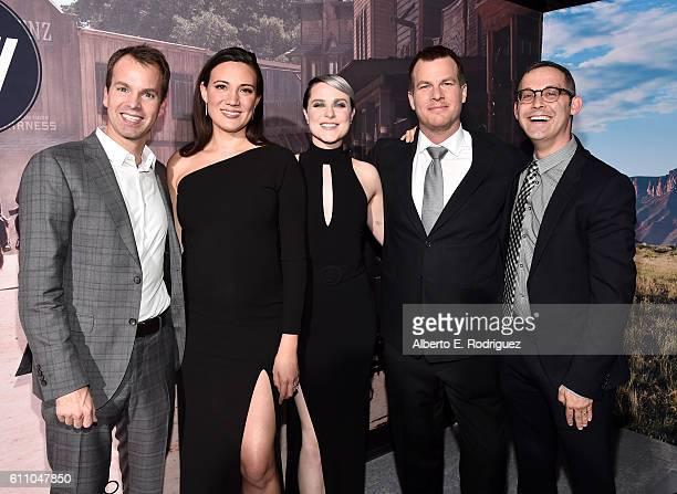 HBO Programming President Casey Bloys Executive producer/writer Lisa Joy actress Evan Rachel Wood Executive producer/writer/director Jonathan Nolan...