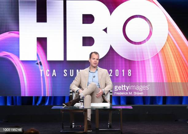 HBO programming president Casey Bloys speaks onstage during the HBO portion of the Summer 2018 TCA Press Tour at The Beverly Hilton Hotelon July 25...
