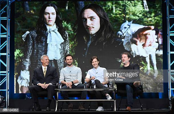 Programming Production at Ovation Scott Woodward actors George Blagden and Alexander Vlahos and showrunner/executive producer David Wolstencroft...
