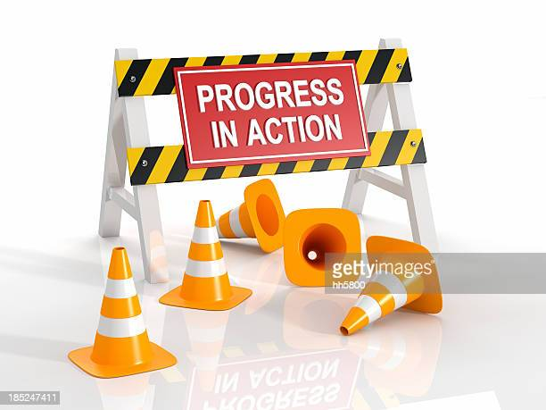 progress in action - traffic cone stock pictures, royalty-free photos & images