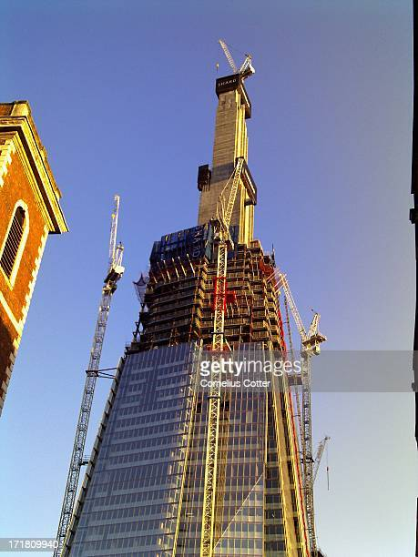 Progress on the construction of the Shard next to London Bridge station. The design is by the architect Renzo Piano. Once the site had been cleared,...