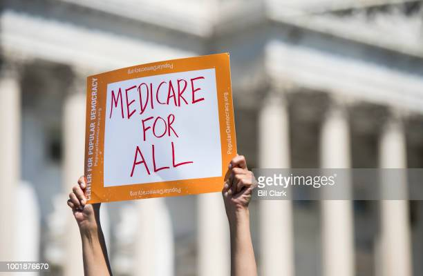 Progressive Democrats of America holds a news conference to announce the launch of a Medicare for All Caucus at the Capitol on Thursday, July 19,...