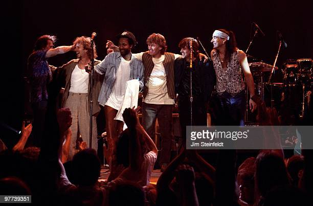 Progressive Rock band Traffic gather for a curtain call at the Target Center in Minneapolis Minnesota on May 21 1994