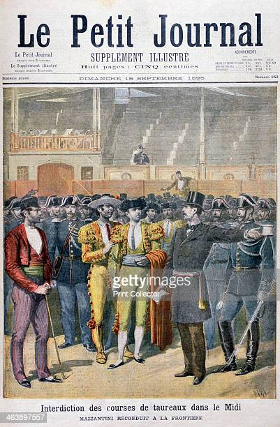 Prohibition of bullfighting in the south of France 1895 An illustration from Le Petit Journal 15th September 1895