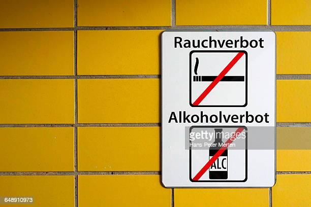 prohibition signs at Hamburg Underground station