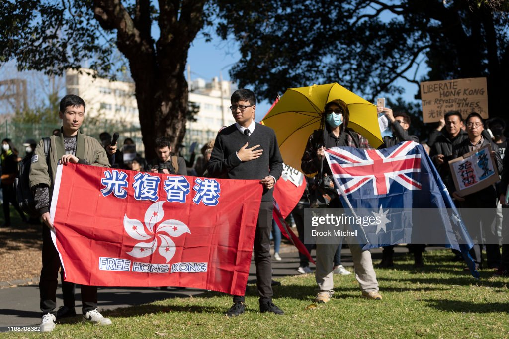 Pro-Hong Kong Demonstrators Gather in Sydney : News Photo