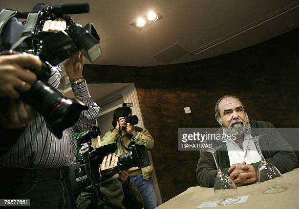 Proindependence Basque Nationalist ActionANV president Kepa Bereziartua takes part in a press conference in the northern Spanish Basque city of...