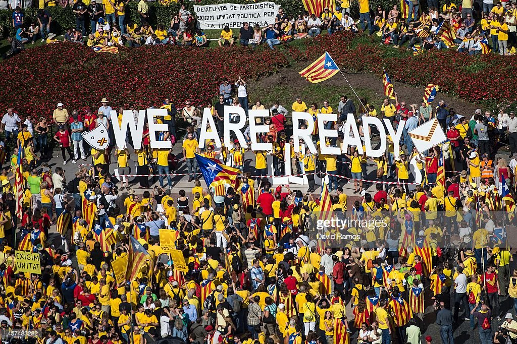 Pro-Independence Rally In Barcelona : News Photo