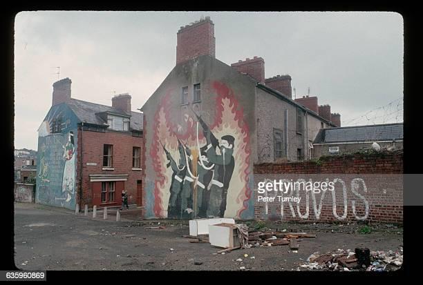 ProIRA Graffiti on Buildings in Northern Ireland