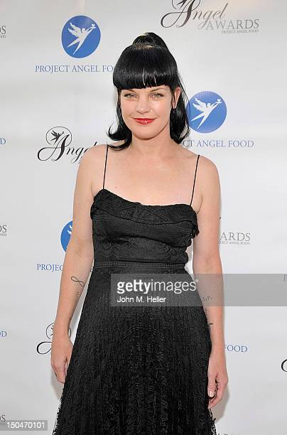 Project Angel Food Honoree actress Pauley Perrette attends the 17th Annual Angel Awards at Project Angel Food on August 18 2012 in Los Angeles...