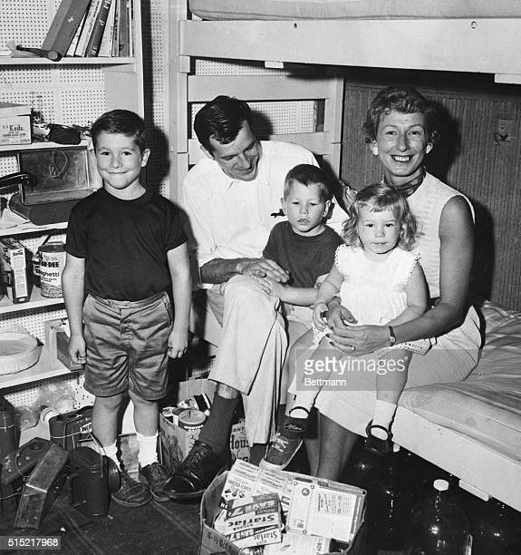 Project Hideway ends for Thomas A Powner his wife Madge sons Scott and Torry and daughter Hilary The Powner family lived in a basement bomb shelter...