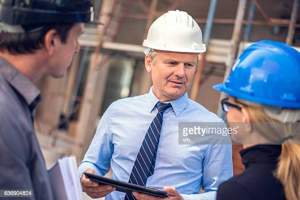Project manager on a construction site