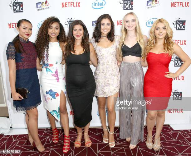 Project Mc2 Cast members Ysa Penarejo Genneya Walton Actress Jamie Lynn Sigler Project Mc2 Cast members Belle Shouse Mika Abdalla and Victoria Vida...