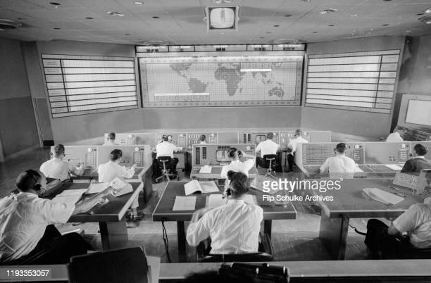 Project Mercury mission control room circa 1961