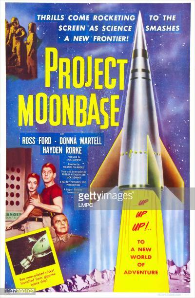 Project Moon Base poster US poster art Donna Martell Hayden Rorke 1953