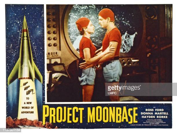 Project Moonbase US lobbycard from left Donna Martell Ross Ford 1953