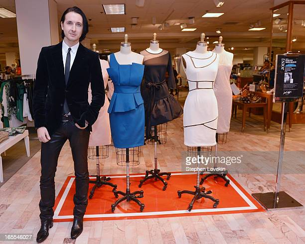 Project Runway season 10 winner Dmitry Sholokhov attends the debut of his collection at Lord and Taylor on April 4 2013 in New York City