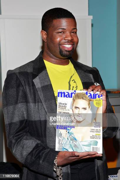 Project Runway's designer Anthony Williams signs copies of Marie Claire at CVS on March 25 2010 in New York City