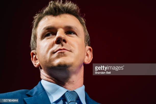 Project Veritas founder James O'Keefe looks on during the Conservative Political Action Conference CPAC held at the Hilton Anatole on July 09, 2021...
