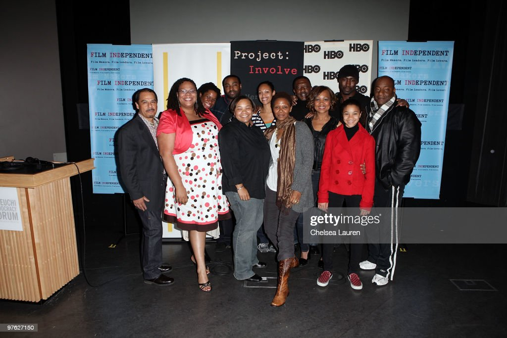 Involve Manager Francisco Velasquez, Producer Morgan Stiff, actress Michael Hyatt, writer / director Tina Mabry, actors Eugene Long, Cynthia Addai-Robinson, Simbi Kali Williams, Micheal Nesbitt, Jossie Harris Thacker, D.B. Woodside, Kylee Russell and Adam Clark attend the Film Independent screening of 'Mississippi Damned' at National Center For The Preservation Of Democracy on March 18, 2010 in Los Angeles, California.