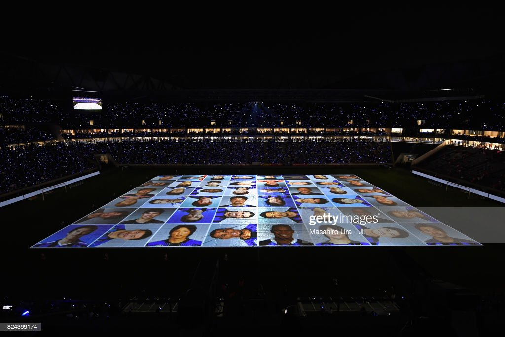 Projection Mapping Is Displayed On The Pitch After The J League J1 News Photo Getty Images