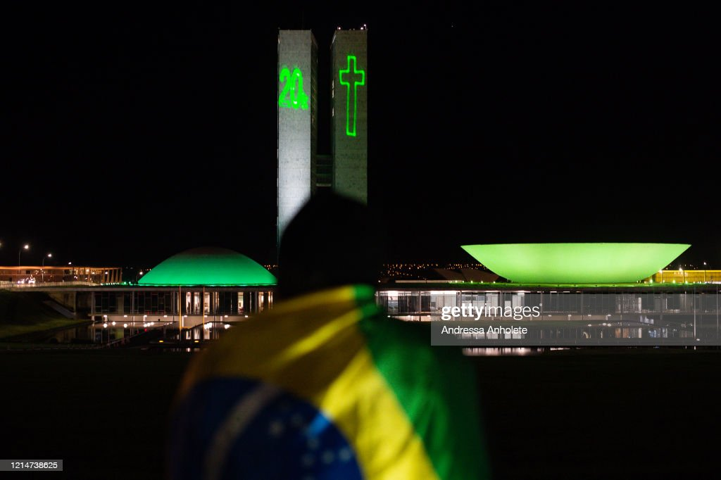 National Congress in Brazil Pays Homage to Victims of Covid-19 : News Photo