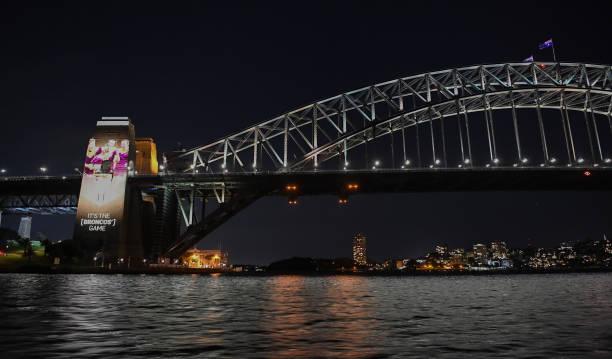 AUS: Sydney Harbour Bridge Lights Up Ahead of 2020 NRL Grand Final