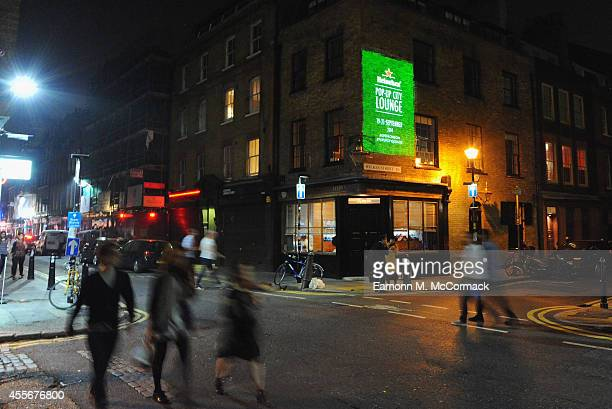 Projections in Shoreditch announce Heineken's unveiling of its latest nightlife experience the PopUp City Lounge at the Old Truman Brewery on...