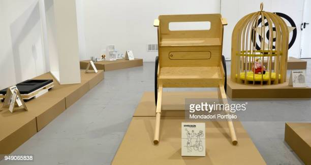 Projects made by Idea collective group who think about Ikea style objects that Ikea wouldn't make such as a children cage a boat wheelchair Displayed...