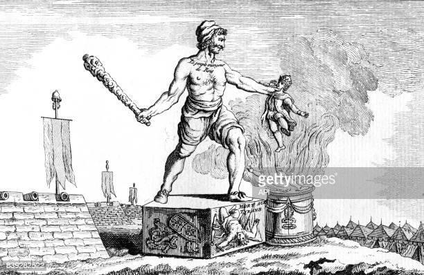 Projet de statues de révolutionnaires représentant les Français comme un ogre étant le 'peuple mangeur de rois' destinées à être placées aux...