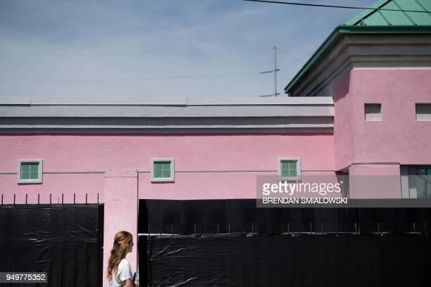 A patient walks into the Jackson Women's Health Organization the last abortion clinic in Mississippi April 5 2018 in Jackson Mississippi Women have...