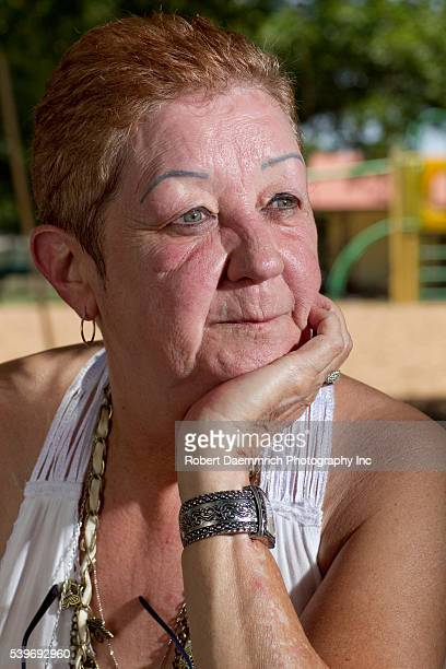 Prolife activist Norma McCorvey poses in a Smithville TX park on a sweltering summer afternoon McCorvey who was Jane Roe in the 1973 Supreme Court...
