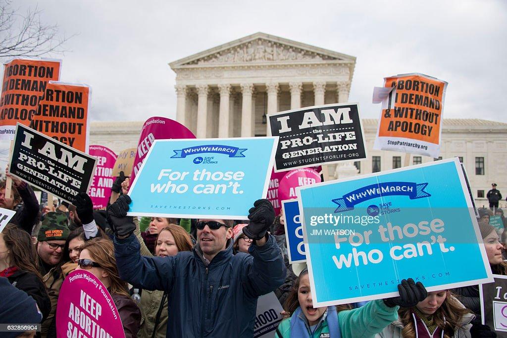 US-POLITICS-ABORTION-PROTEST : News Photo