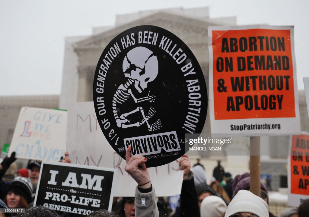 US-JUSTICE-ABORTION-DEMONSTRATION : News Photo