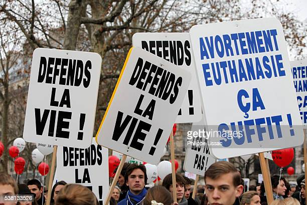 pro-life (anti abortion) demonstration in paris - euthanasia stock pictures, royalty-free photos & images