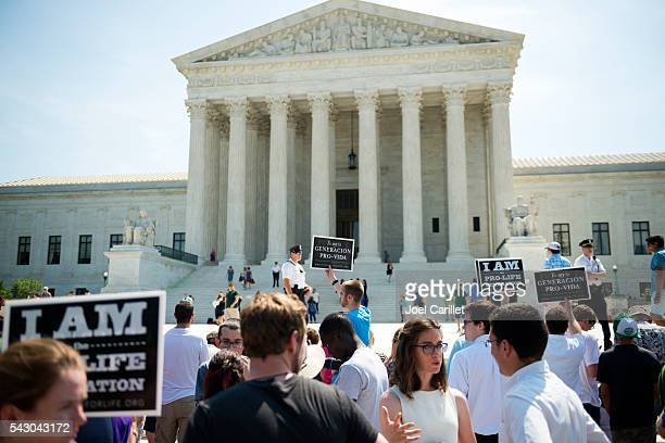 Pro-life supporters at U.S. Supreme Court