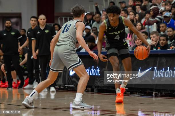 Prolific Prep Crews guard Jalen Green in action during the first half of the Spalding Hoophall Classic high school basketball game between the...
