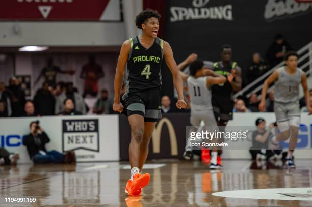 Prolific Prep Crews guard Jalen Green reacts during the second half of the Spalding Hoophall Classic high school basketball game between the Prolific...