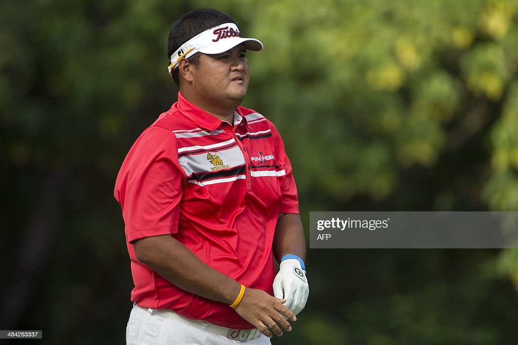 Prom Meesawat of Thailand watches play on the final day of the Hong Kong Open at the Hong Kong Golf Club in Hong Kong on December 8, 2013. Meesawat came in joint second, with Stuart Manley of Wales, behind Miguel Angel Jimenez of Spain who won the tournament for a record-equalling fourth time.