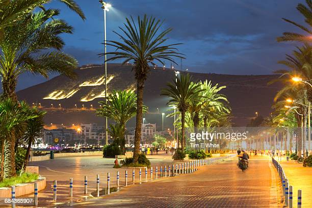 promanade, agadir, morocco - agadir stock pictures, royalty-free photos & images