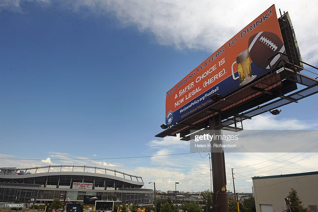 DENVER GETS READY FOR THE NFL 2013 OPENER MATCHING UP THE DENVER BRONCOS AND THE BALTIMORE RAVENS : News Photo