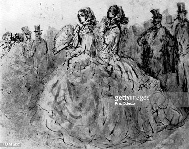 'Promenade' 19th century Illustration from The Painter of Victorian Life a study of Constantin Guys with an introduction and a translation of...